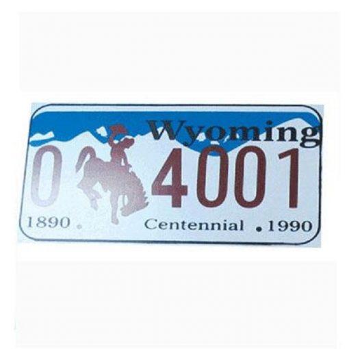 Wyoming Yabancı Plaka, Wyoming Yabancı, Yabancı Plaka